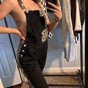 Black & Cheetah Print overalls